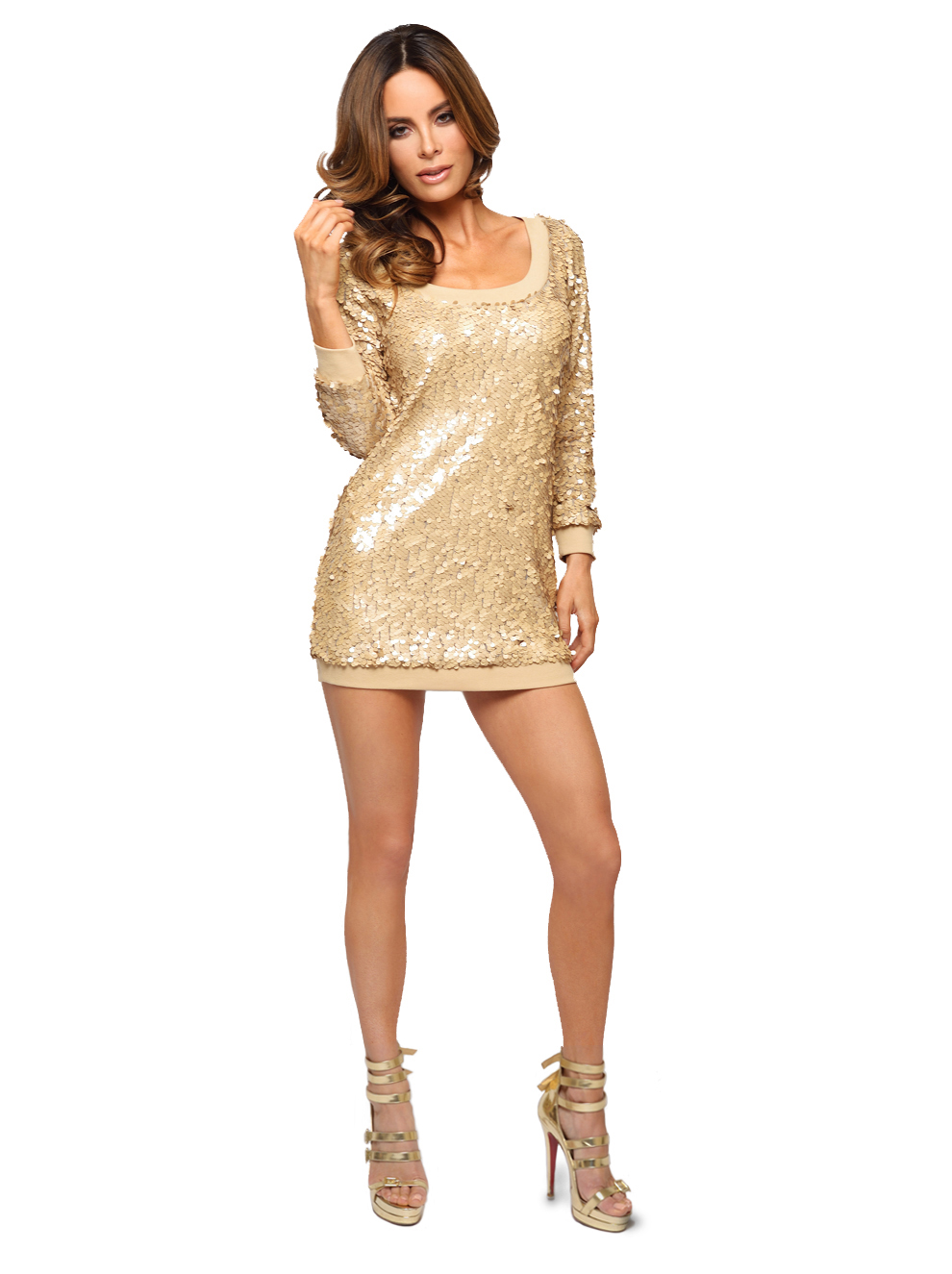 Sequin Sweater Dress - Soraya By Rozi
